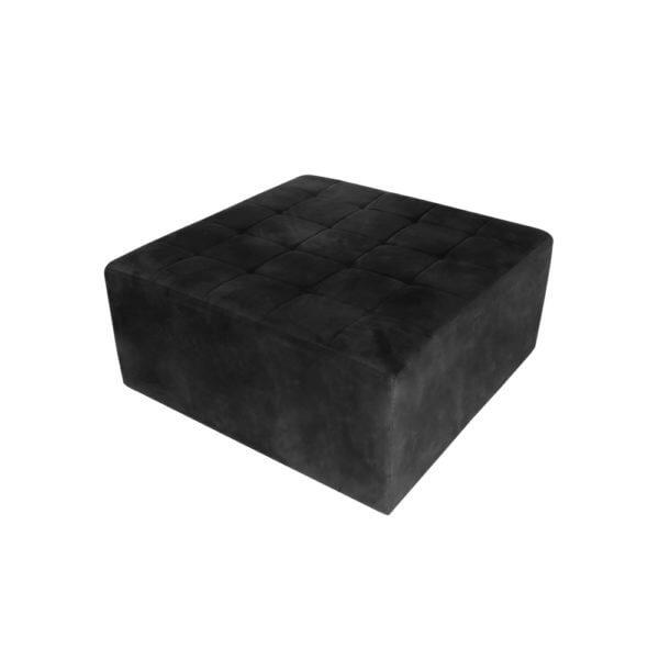 Puff Futon Quadrado preto