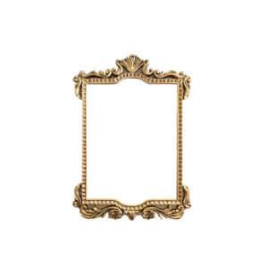 Espelho Quadrado Dourado