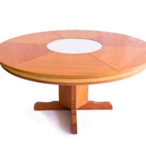 Mesa redonda com espelho central