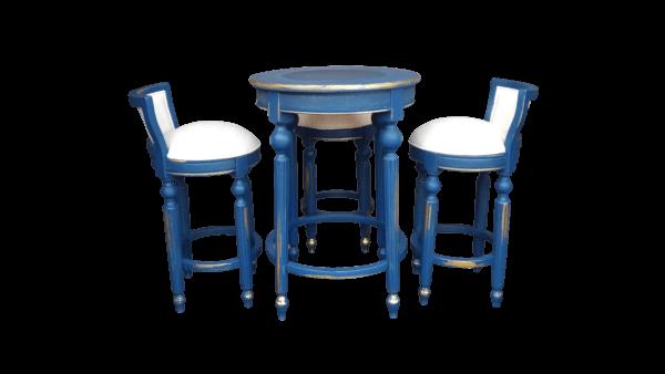 Jogo Bistro Luxo Azul