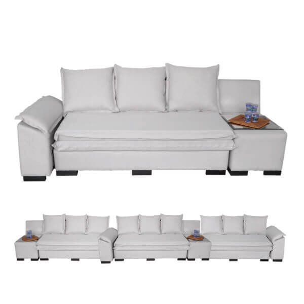 Sofá Modular com Almofada Off White